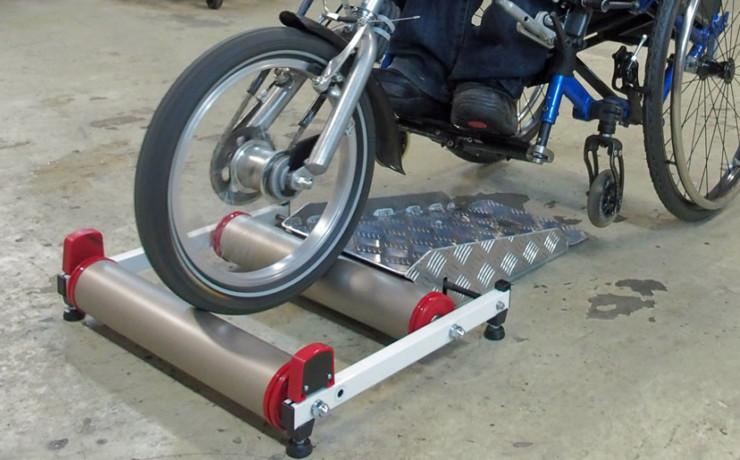 ハンドバイク用のローラー台(サイクルトレーナー)を製作しました!