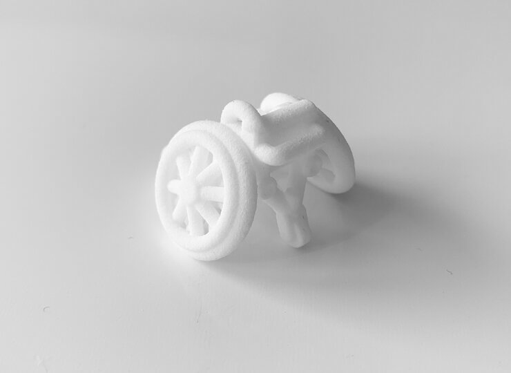 3Dプリント商品「車いすバスケット車」
