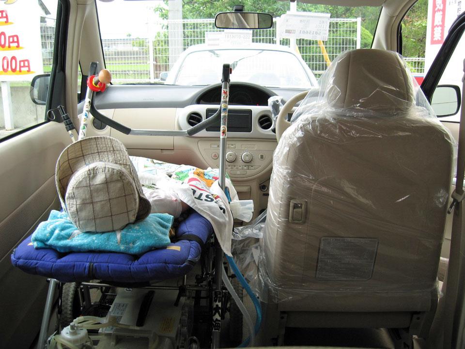 ポルテ 車いす 助手席乗車改造