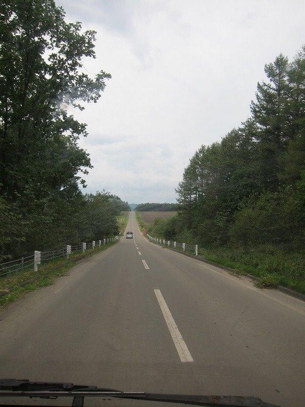 とかちロングトレイルクラッシック 十勝の直線道路
