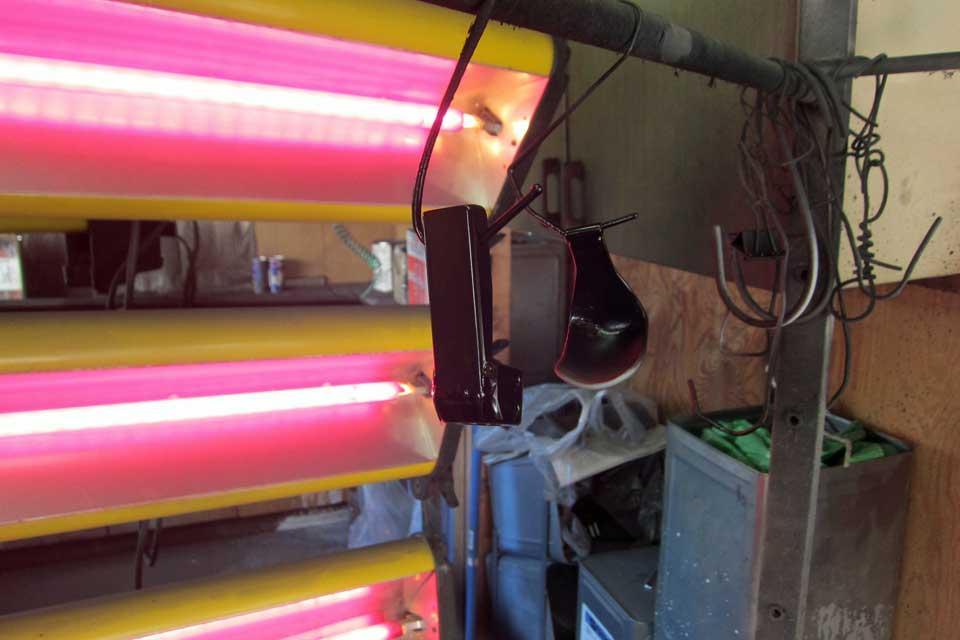 福祉車両 運転補助装置 ATセレクトレバー補助具製作