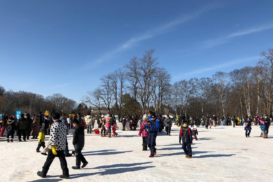 「第56回 おびひろ氷まつり」は例年にない雪不足でした。