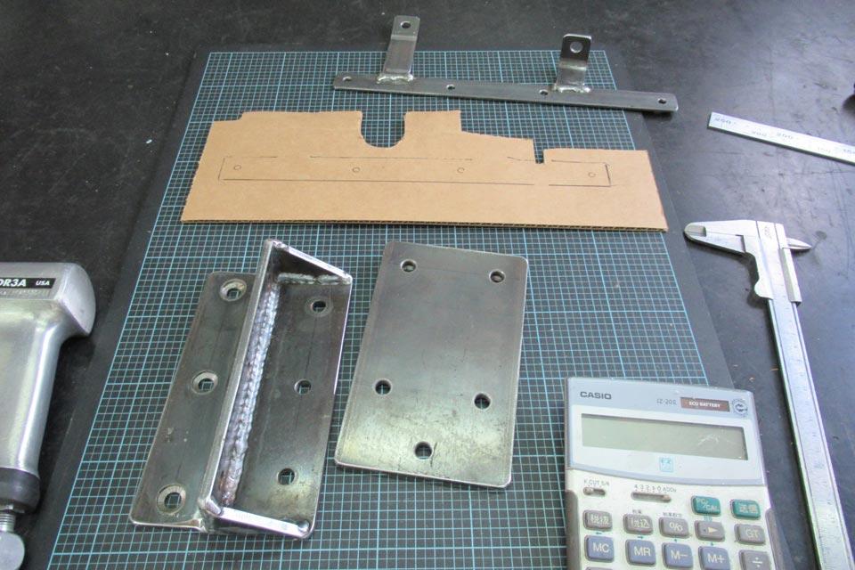 ホンダ・オデッセイ 電動小型補助ステップ 加工取付作業
